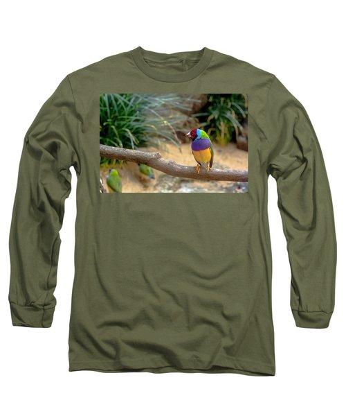 Colourful Bird Long Sleeve T-Shirt by Daniel Precht