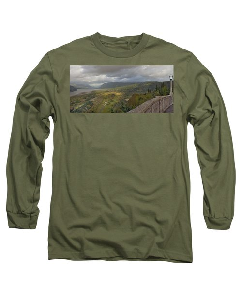 Long Sleeve T-Shirt featuring the photograph Columbia River Gorge View From Crown Point by JPLDesigns
