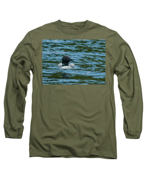 Long Sleeve T-Shirt featuring the photograph Common Loon by Brenda Jacobs