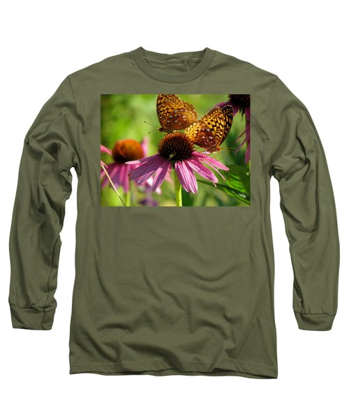 Coneflower Butterflies Long Sleeve T-Shirt