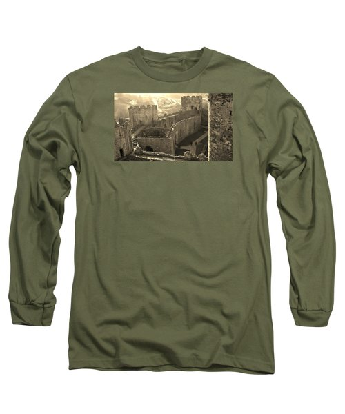 Conwy Castle Long Sleeve T-Shirt by Richard Brookes