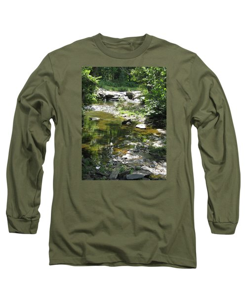 Long Sleeve T-Shirt featuring the photograph Cool Waters by Ellen Levinson