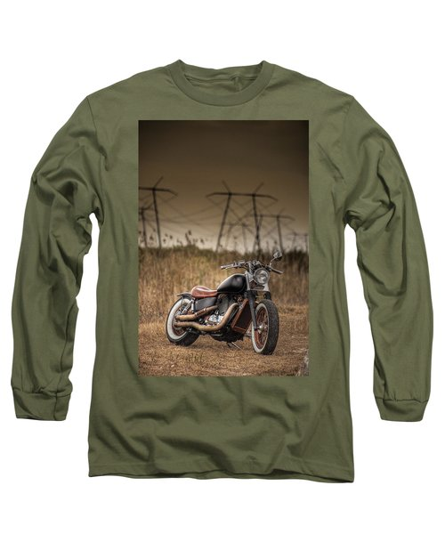 Copper Chopper Long Sleeve T-Shirt by Bradley R Youngberg