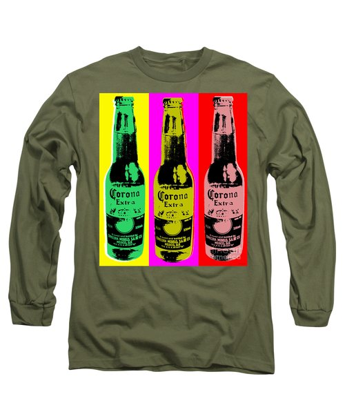 Corona Beer Long Sleeve T-Shirt by Jean luc Comperat