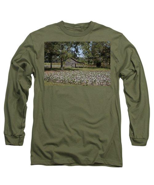 Cotton In Rural Alabama Long Sleeve T-Shirt