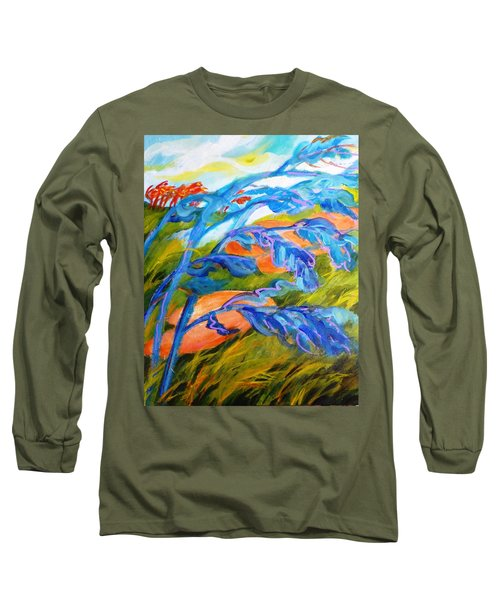 Count The Wind Long Sleeve T-Shirt by Betty M M   Wong