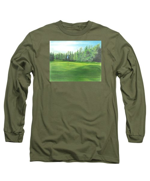 Long Sleeve T-Shirt featuring the drawing Country Club by Troy Levesque