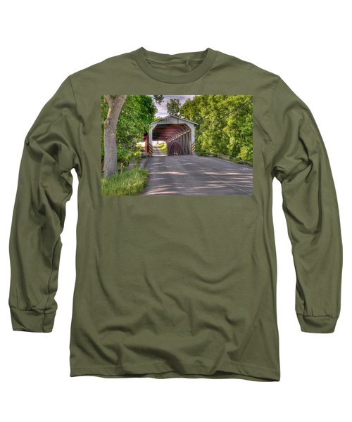 Long Sleeve T-Shirt featuring the photograph Covered Bridge by Jim Thompson