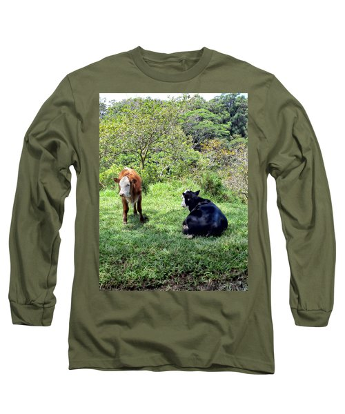 Long Sleeve T-Shirt featuring the photograph Cow 4 by Dawn Eshelman