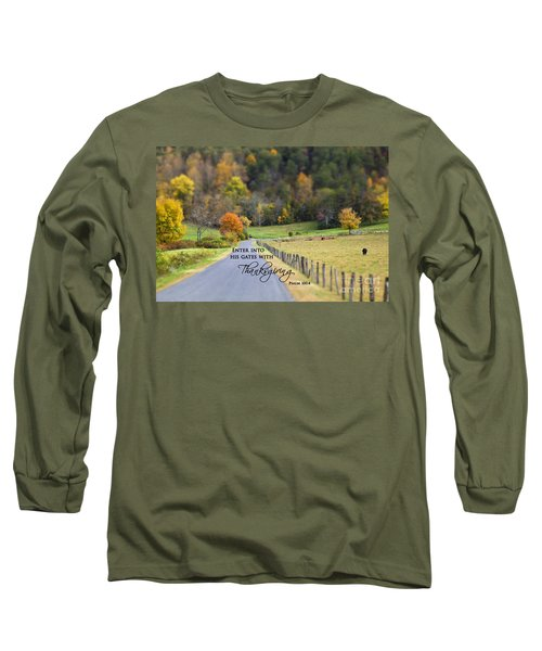 Cow Pasture With Scripture Long Sleeve T-Shirt