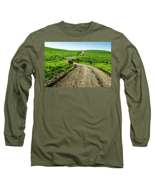Cows On The Road Long Sleeve T-Shirt