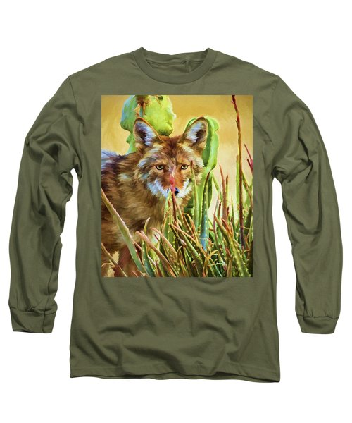 Coyote In The Aloe Long Sleeve T-Shirt