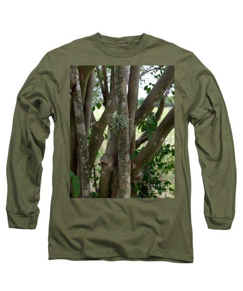 Crape Myrtle Growth Ball Long Sleeve T-Shirt by Peter Piatt