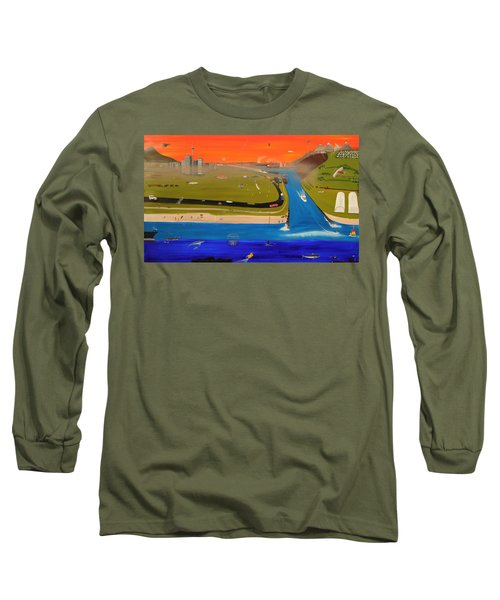 Creation And Evolution - Painting 2 Of 2 Long Sleeve T-Shirt by Tim Mullaney