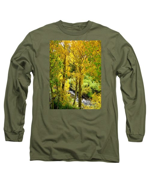 Long Sleeve T-Shirt featuring the photograph Creekside by Marilyn Diaz
