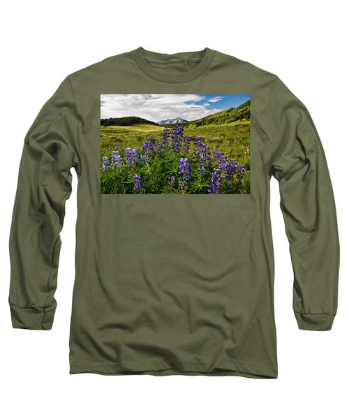 Long Sleeve T-Shirt featuring the photograph Crested Butte Lupines by Ronda Kimbrow