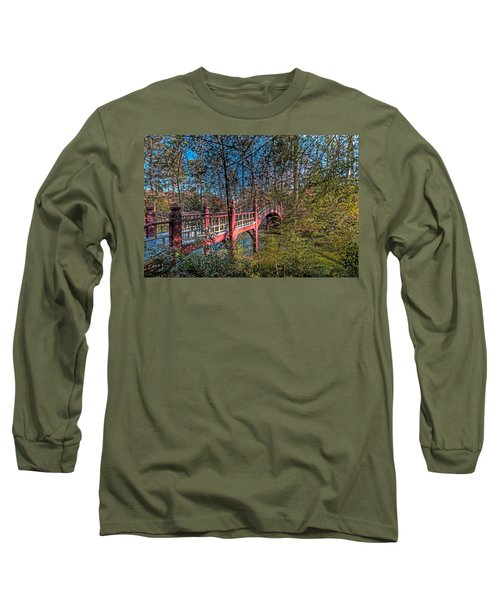 Long Sleeve T-Shirt featuring the photograph Crim Dell Bridge by Jerry Gammon