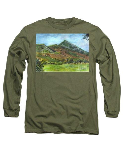 Croagh Saint Patricks Mountain In Ireland  Long Sleeve T-Shirt by Carol Wisniewski