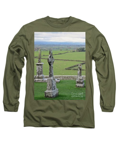 Crosses Of Cashel Long Sleeve T-Shirt by Suzanne Oesterling