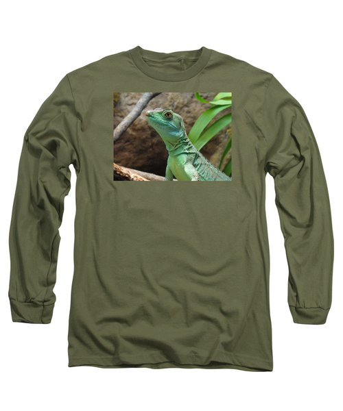 Long Sleeve T-Shirt featuring the photograph Curious Gaze by Lingfai Leung