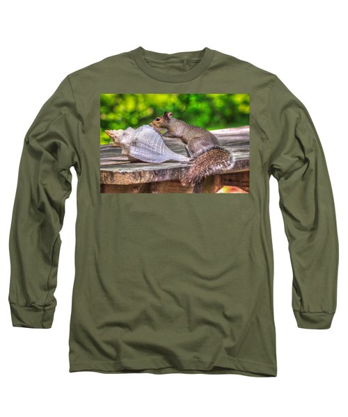 Long Sleeve T-Shirt featuring the photograph Curious Squirrel by Rob Sellers