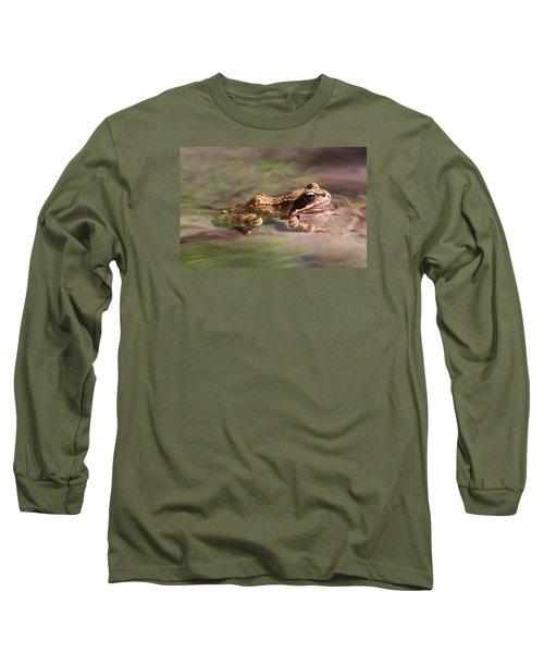 Cute Litte Creek Frog Long Sleeve T-Shirt