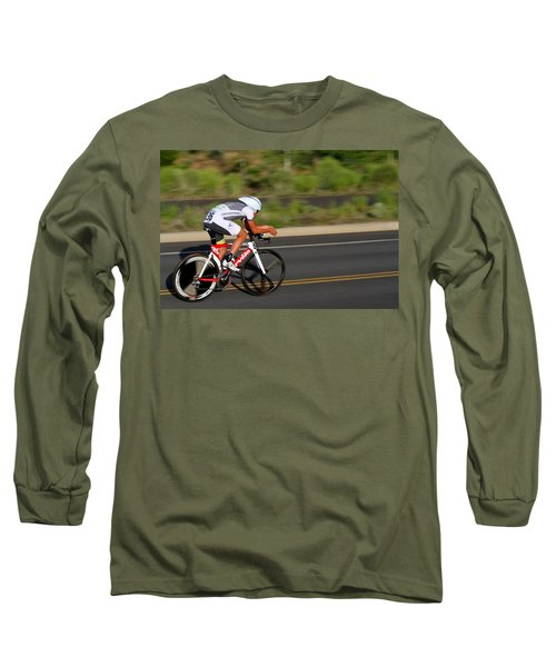 Cycling Time Trial Long Sleeve T-Shirt by Kevin Desrosiers