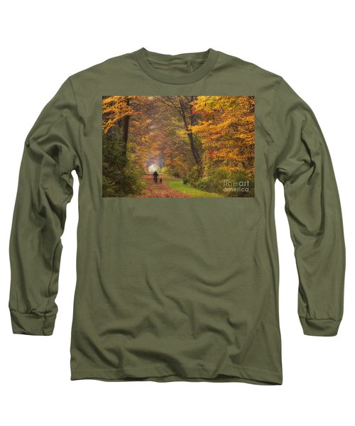 Cyclist And Dog Long Sleeve T-Shirt