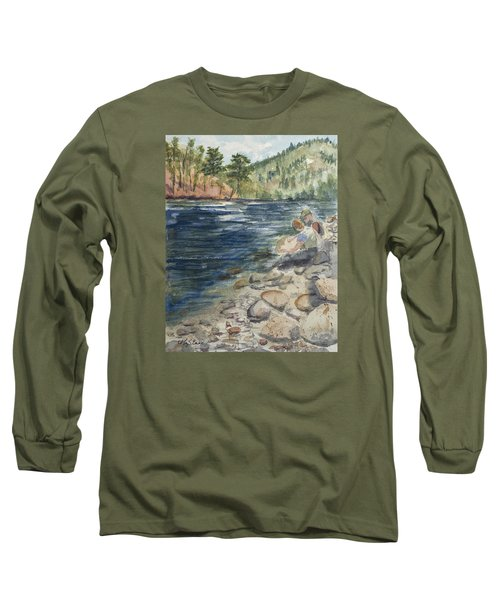 Dad And Son Gearing Up Long Sleeve T-Shirt
