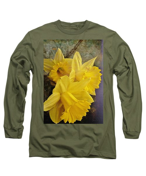 Long Sleeve T-Shirt featuring the photograph Daffodil Burst by Diane Alexander