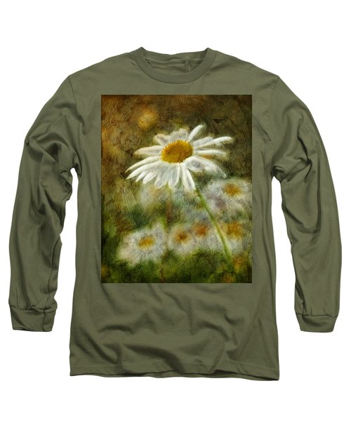 Daisies ... Again - P11at01 Long Sleeve T-Shirt by Variance Collections