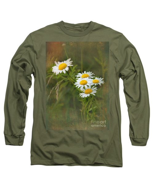 Daisies Long Sleeve T-Shirt by Lena Auxier