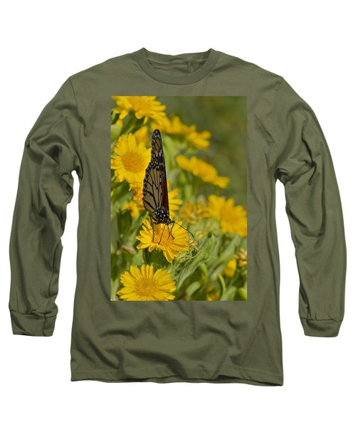 Long Sleeve T-Shirt featuring the photograph Daisy Daisy Give Me Your Anther Do by Gary Holmes