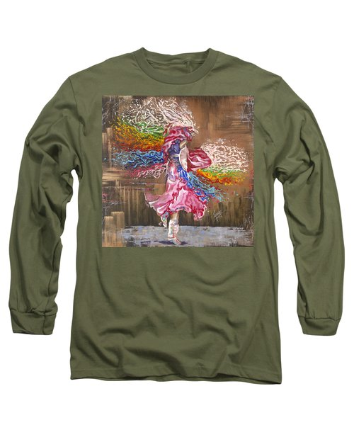 Dance Through The Color Of Life Long Sleeve T-Shirt