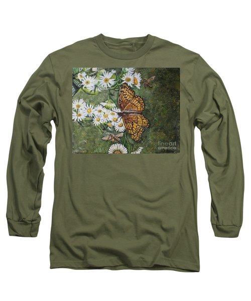 Dance With The Daisies Long Sleeve T-Shirt by Kimberlee Baxter