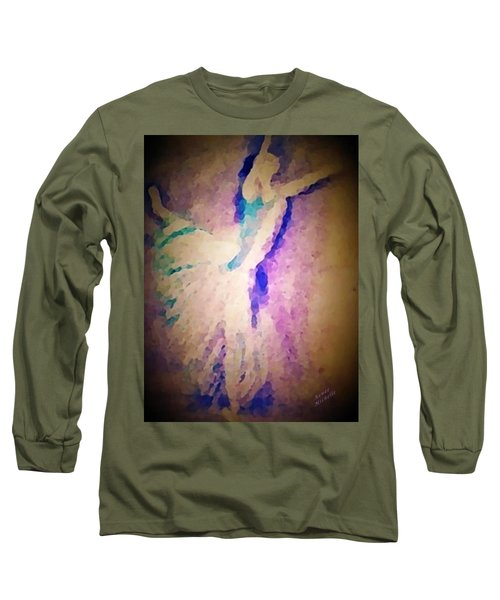 Dancing Donna Long Sleeve T-Shirt by Renee Michelle Wenker