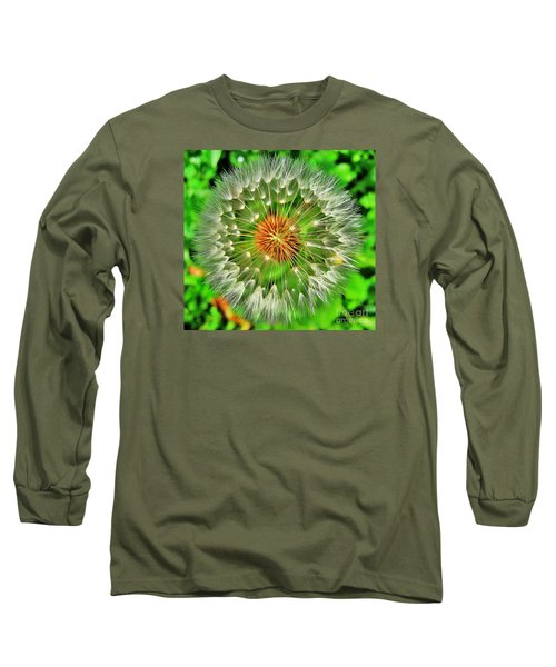 Long Sleeve T-Shirt featuring the photograph Dandelion Circle by John King