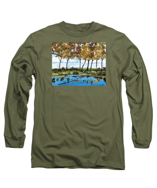 Dawn's Blue Waters Edge  Long Sleeve T-Shirt