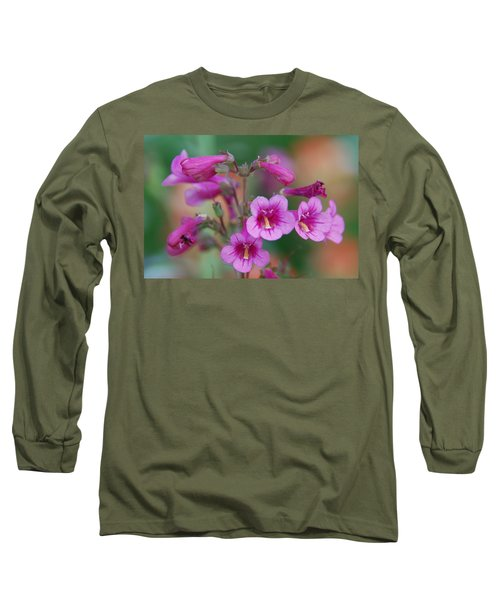 Long Sleeve T-Shirt featuring the photograph Pink Flowers by Tam Ryan