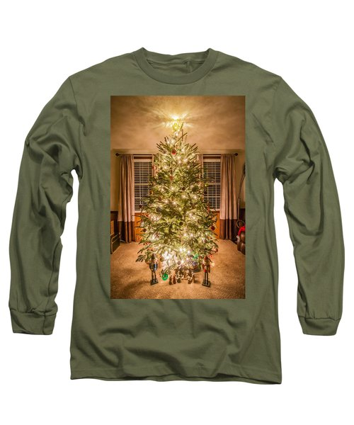 Long Sleeve T-Shirt featuring the photograph Decorated Christmas Tree by Alex Grichenko
