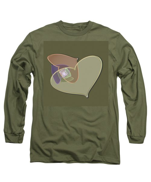Decorative Heart Long Sleeve T-Shirt
