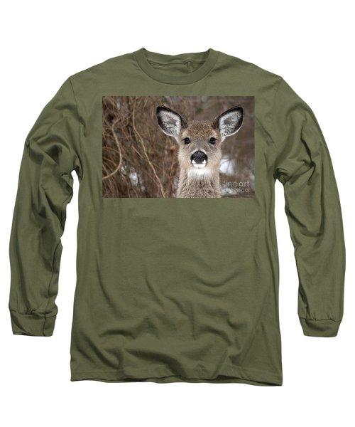 Deer Long Sleeve T-Shirt by Jeannette Hunt