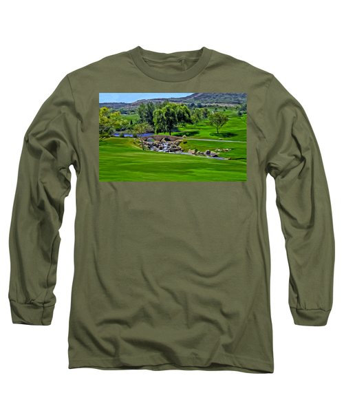 Long Sleeve T-Shirt featuring the painting Del Mar Country Club by Michael Pickett