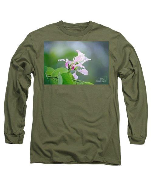 Delicate Delight Long Sleeve T-Shirt by Kerryn Madsen-Pietsch