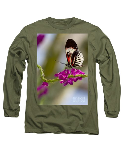 delicate Piano Key Butterfly Long Sleeve T-Shirt