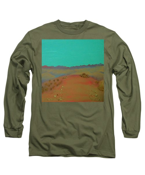 Long Sleeve T-Shirt featuring the painting Desert Overlook by Keith Thue
