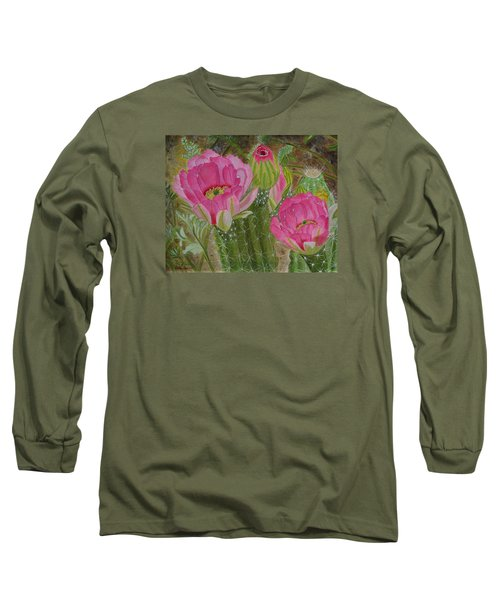 Desert Stars Long Sleeve T-Shirt by Donna  Manaraze