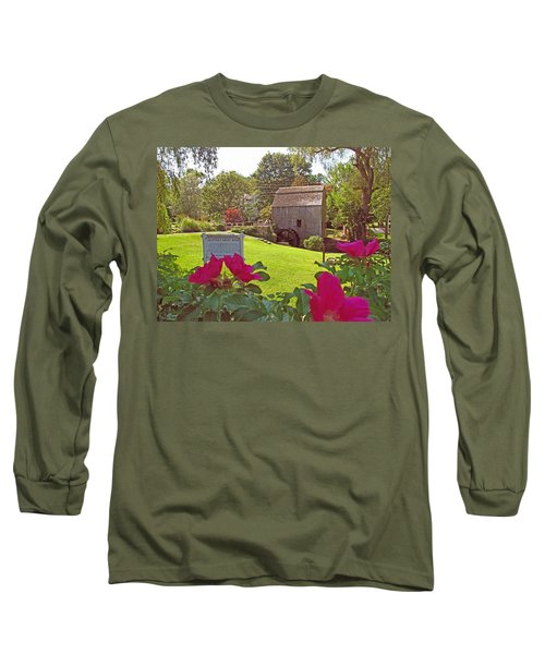 Long Sleeve T-Shirt featuring the photograph Dexters Grist Mill Two by Barbara McDevitt