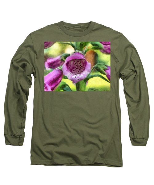 Digitalis Purpurea Long Sleeve T-Shirt