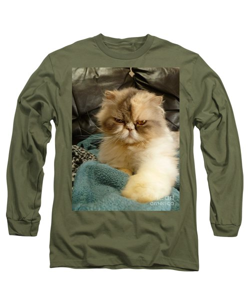 Do I Look Amused? Long Sleeve T-Shirt by Vicki Spindler